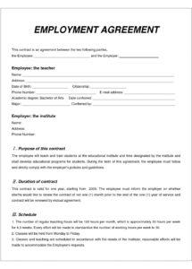 007 employment contract template free download ideas employee labour contract agreement sample