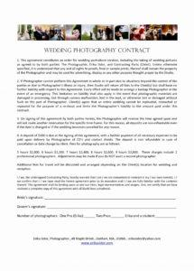 021 template ideas wedding photography contracts templates contract wedding photography cancellation contract template