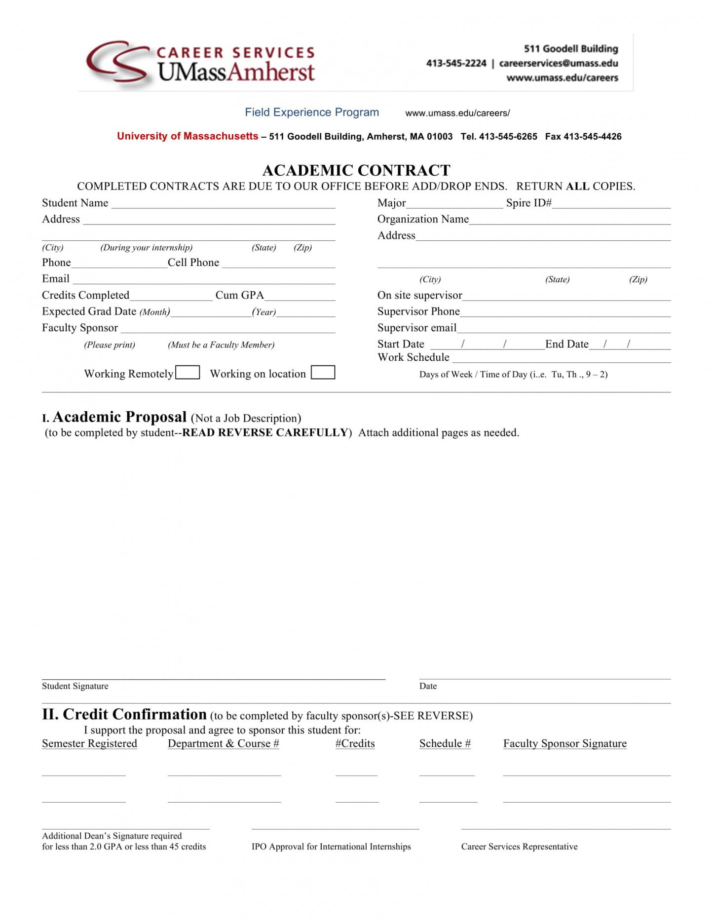 11+ student academic contract template examples  pdf, word, google student academic contract template