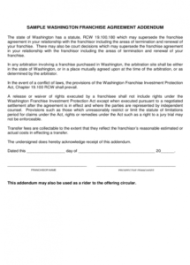 2019 franchise agreement template  fillable, printable pdf & forms franchise termination agreement sample