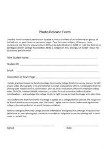 53 free photo release form templates word, pdf template lab video shoot contract template