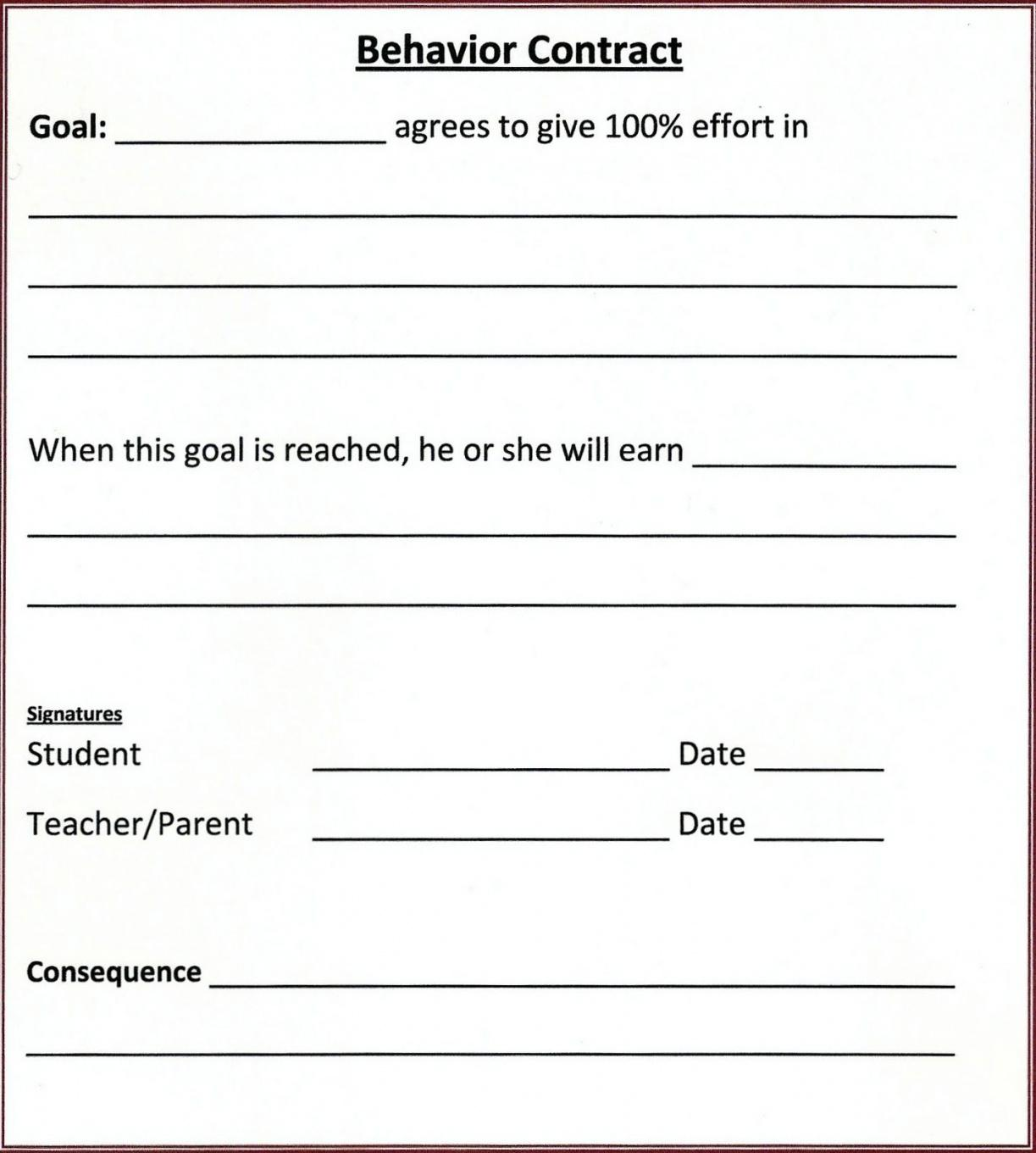 6 steps to creating behavior contracts for challenging students student behavior contract template