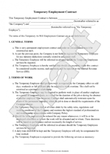 casual employee contract template casual worker contract template