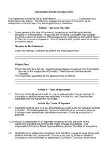 here the 50+ free independent contractor agreement forms & templates courier service contract agreement