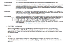 here the agency  artist contract template (uk use only) band management contract template
