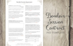 here the boudoir session client agreement form template business form  etsy boudoir photography contract template
