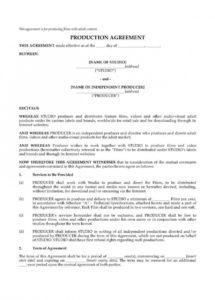 here the co production agreement template  lostranquillos film co-production contract template