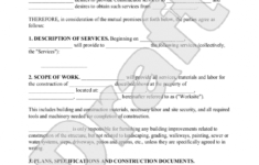 here the construction contract template  construction agreement form  books job order contract template