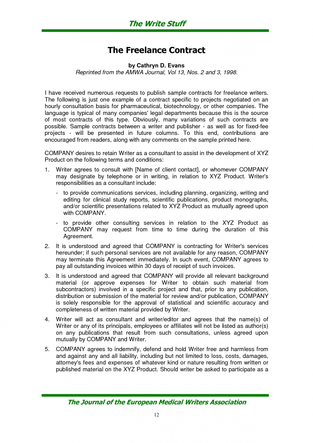 here the contract for freelance writers 6  elsik blue cetane freelance worker contract template