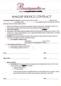 here the contract  makeup artist  makeup, freelance makeup artist, makeup freelance makeup contract template