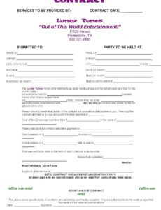 here the dj contract template  non compete agreement  dj agreement  real wedding musician contract template
