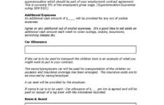 here the download simple employment agreement style 21 template for free at car allowance contract template
