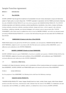 here the franchise contract template franchise license agreement sample