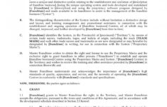 here the franchise template agreement  lostranquillos simple franchise agreement sample