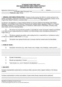 here the freelance contract template  bravebtr freelance worker contract template