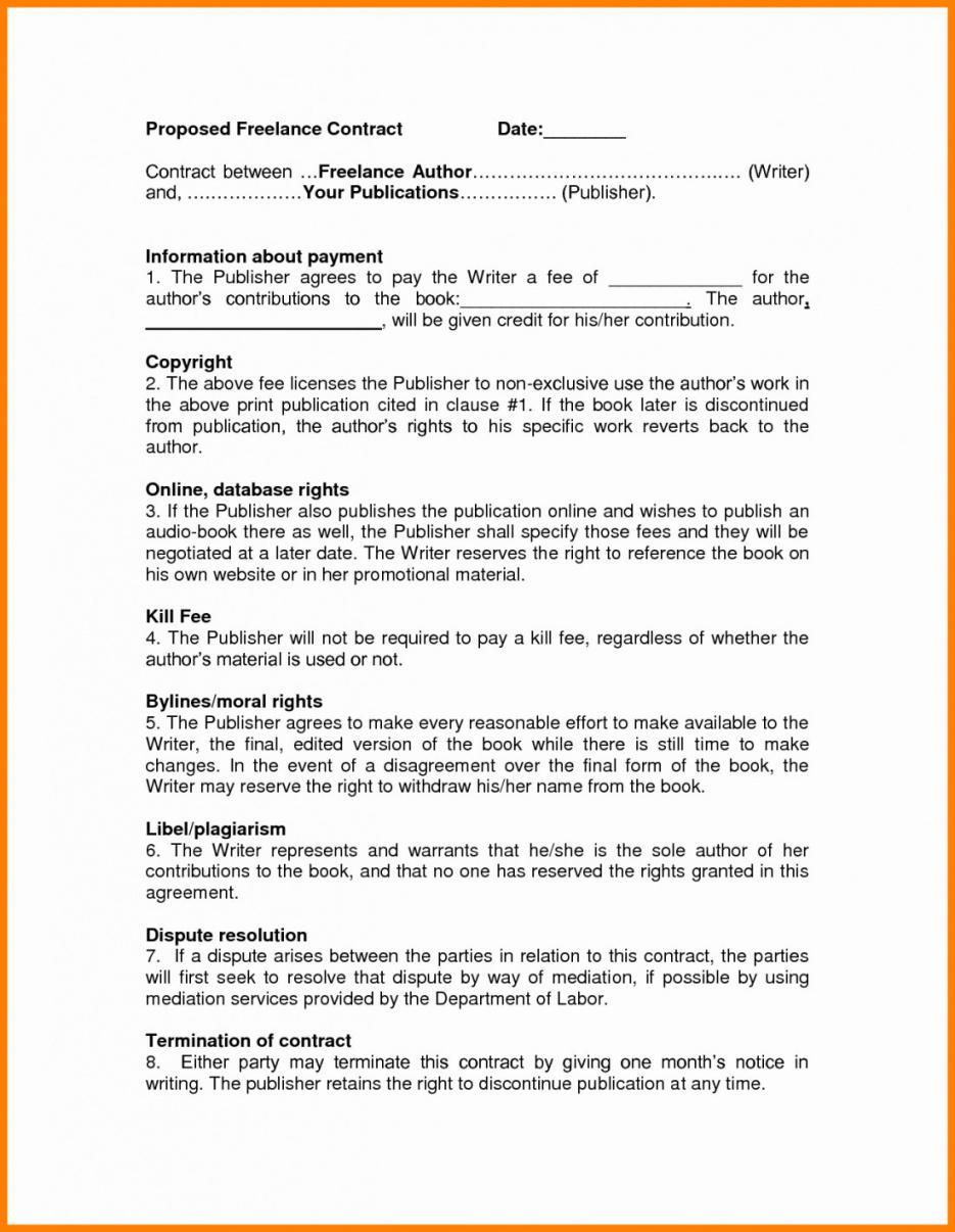here the freelance writing agreement template  lostranquillos freelance writing contract template
