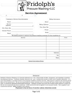 here the service agreement  residential  pressure washing resource pressure washing contract template