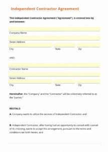 here the sub contractor info form template best of simple independent massage therapy contract agreement