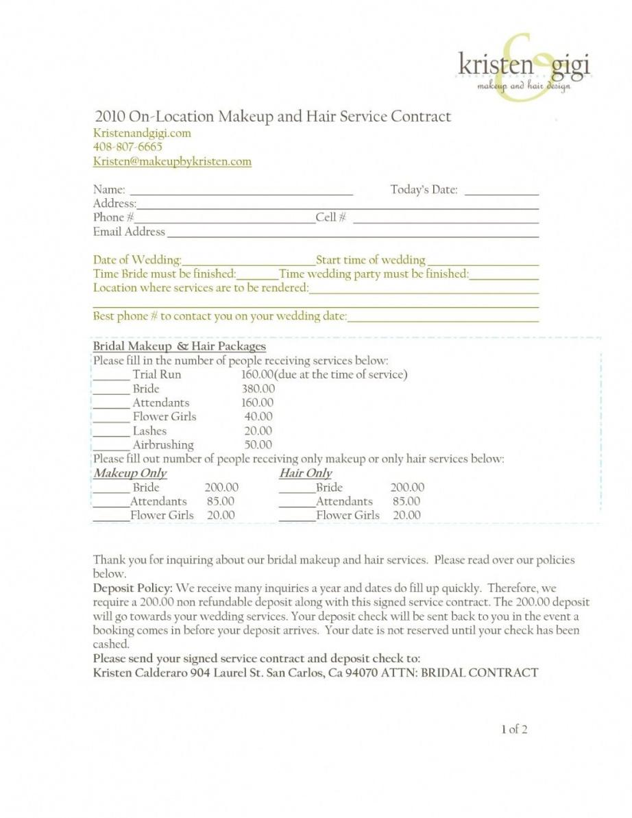 here the wedding hair and makeup contract template  hairstyles ideas for me wedding hair and makeup contract template