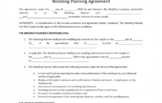 here the wedding planner contract template event organizer contract sample