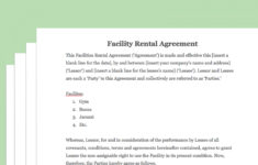 how to draft a sporting facility contract (with pictures) sports player contract template