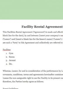 how to draft a sporting facility contract (with pictures) staffing contract agreement sample