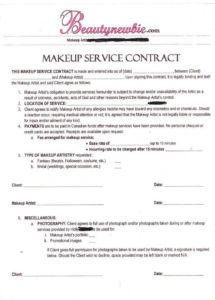 makeup contract  elitamydearestco free bridal makeup contract template