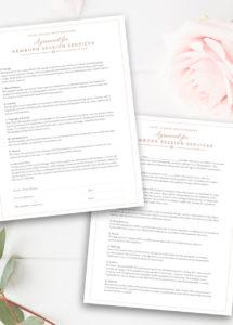 newborn photography contract template newborn photographer  etsy newborn photography contract template