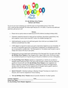 our 018 template ideas wedding photographyt word family inspirational birthday party photography contract template