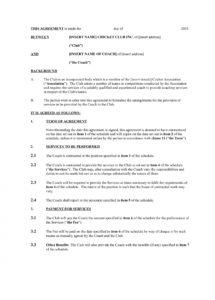 our 13+ sports coach contract example templates  docs, word  examples sports coaching contract template