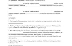 our 30+ prenuptial agreement samples & forms  template lab stipulation agreement template