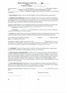 our co production agreement template  backmentor film co-production contract template