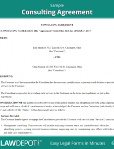 our consulting agreement template (us)  lawdepot consulting services contract template