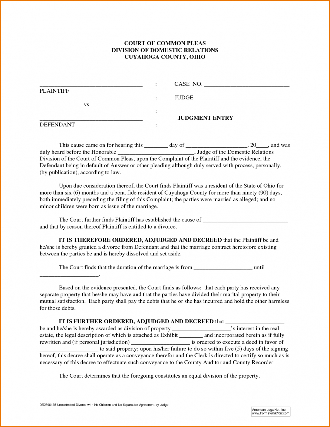Our Divorce Agreement Example 84083 6 Divorce Agreement