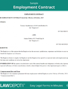our employment contract template (us) lawdepot casual labour contract template