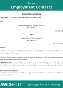 our employment contract template (us) lawdepot casual worker contract template