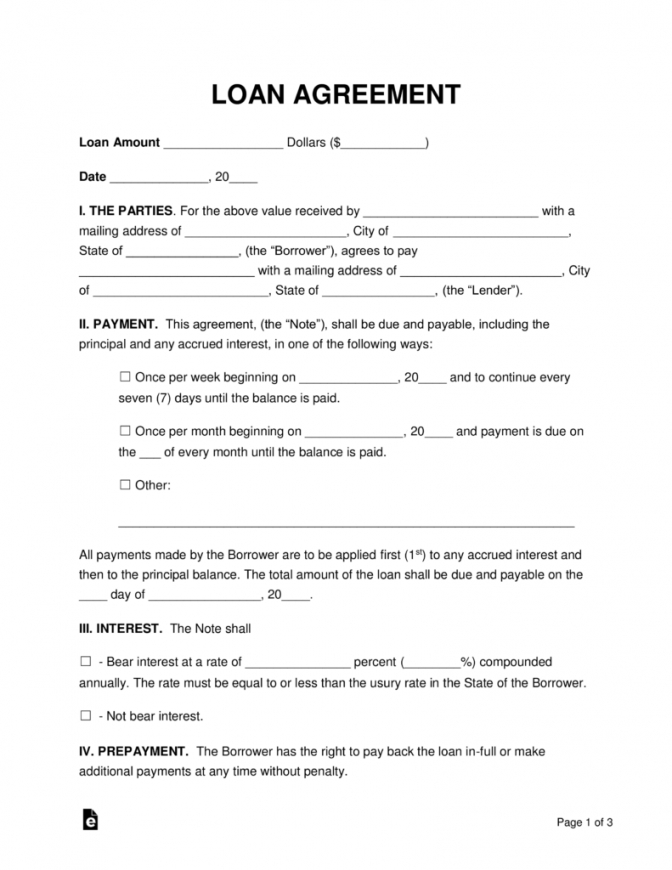 our free loan agreement templates  pdf  word  eforms  free fillable borrowing money agreement template
