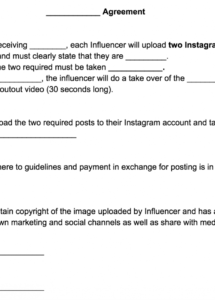 our influencer template agreement  phlanx influencer agreement contract template