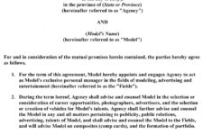 our modeling 101  a model's diary: wanna see what a modeling contract modeling contract agreement