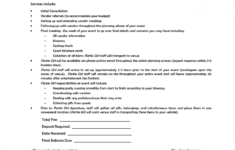 our party planner contract template  google search  events in 2019 event organizer contract sample