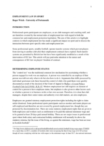 our pdf) employment law in sport soccer player contract template