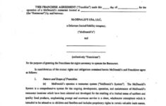 our sample franchise agreement form free sample franchise agreement template