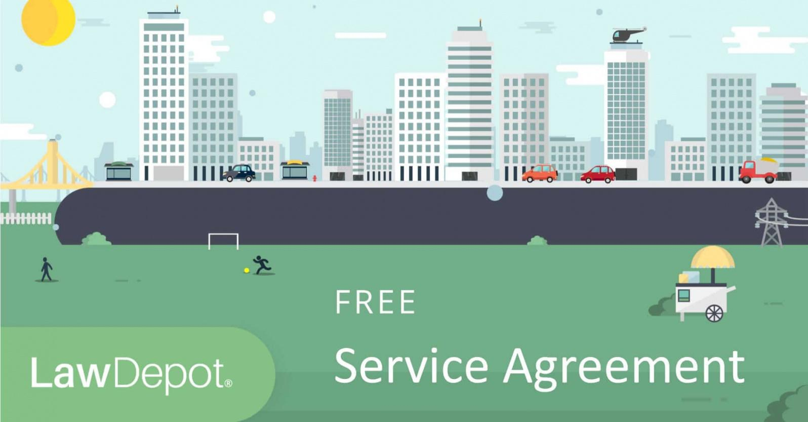 our service agreement form  free service contract template (us)  lawdepot courier service contract agreement