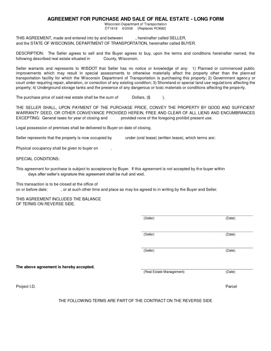 our simple land purchase agreement form  business mentor home ownership contract template
