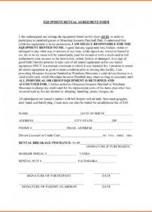 our tool rental agreement template  lostranquillos generator rental agreement template