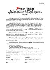 our truck driver contract agreement template  template business truck driver contract agreement