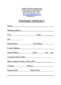 portrait photography contract  emmamcintyrephotography family photography contract template