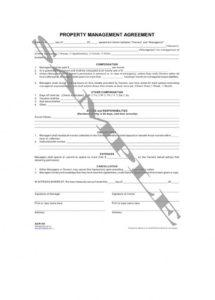 property management agreement property manager contract agreement