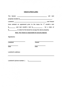 rv park rental agreement contract intent to rent form 2 free rv park rental agreement contract