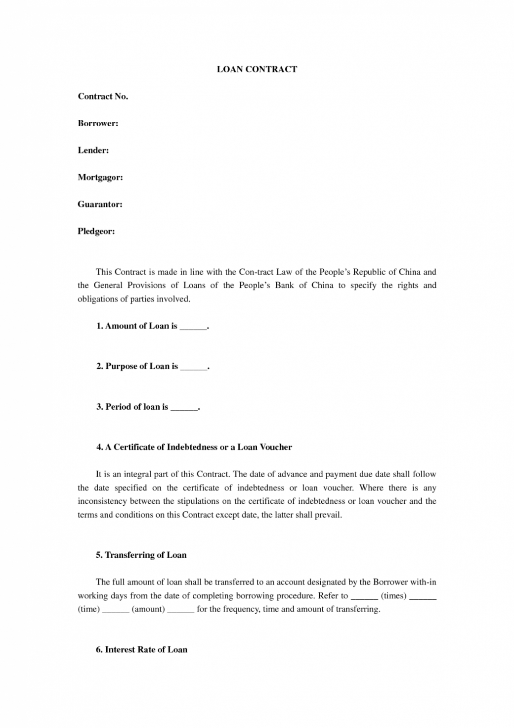 sample loan agreement letter corporate contract private template 3 waiter contract template